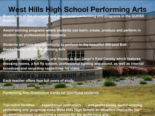 West Hills High School - Performing Arts